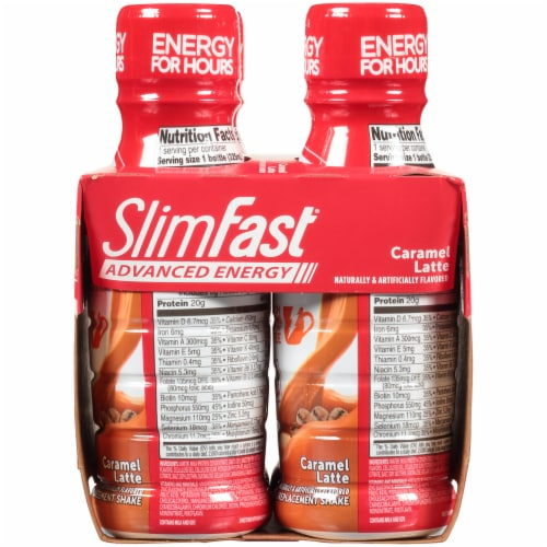SlimFast Advanced Nutrition Caramel Latte High Protein Meal Replacement Shakes Perspective: right