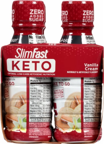 SlimFast Keto Vanilla Cream Ready to Drink Meal Replacement Shakes Perspective: right