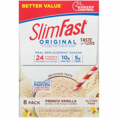 SlimFast Original French Vanilla Meal Replacement Shakes Perspective: right