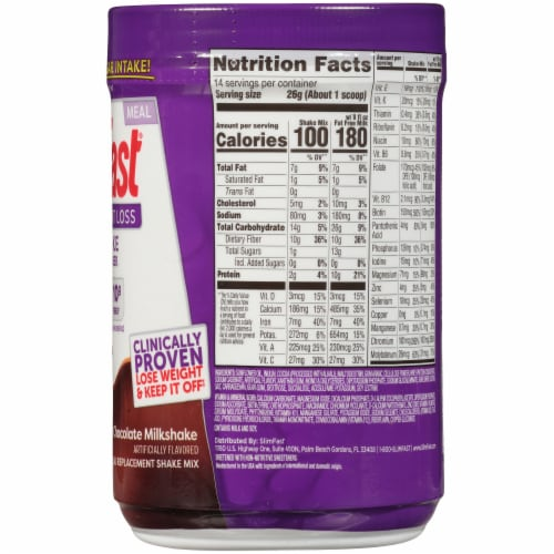 SlimFast Diabetic Weight Loss Chocolate Milkshake Meal Replacement Shake Perspective: right