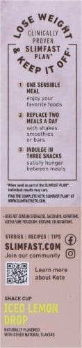 SlimFast Keto Fat Bomb White Chocolate Lemon Bars Perspective: right