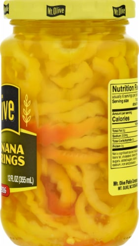 Mt. Olive Mild Banana Pepper Rings Perspective: right