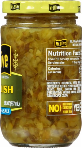 Mt. Olive Dill Relish With Sea Salt Perspective: right