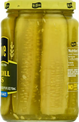 Mt. Olive Kosher Dill Spears with Sea Salt Perspective: right