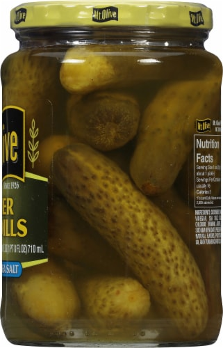 Mt. Olive Kosher Baby Dill Pickles with Sea Salt Perspective: right
