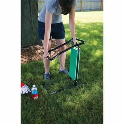 Best Garden Green Foam Pad w/Black Steel Frame Garden Kneeler Bench GM7104 Perspective: right