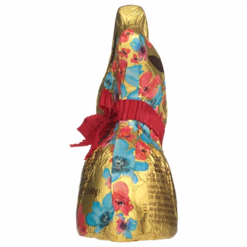 Lindt Gold Milk Chocolate Bunny Perspective: right