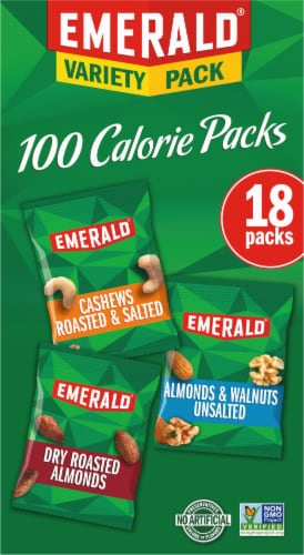 Emerald Almonds Walnuts & Cashews 100 Calorie Variety Packs Perspective: right