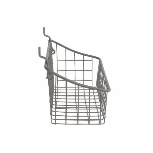 Spectrum Pegboard & Wall Mount Basket - Gray Perspective: right