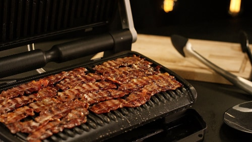 T-fal Stainless Steel OptiGrill + XL Indoor Grill Perspective: right