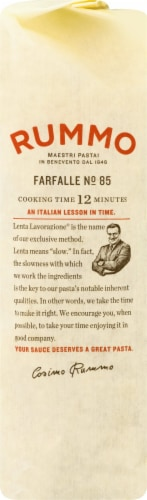 Rummo Farfalle No. 85 Pasta Perspective: right