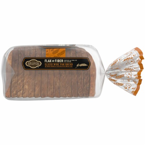 Private Selection® Flax & Fiber Sliced Wide Pan Bread Perspective: right
