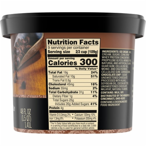 Private Selection® Semi-Sweet Chocolate Chip Ice Cream Perspective: right
