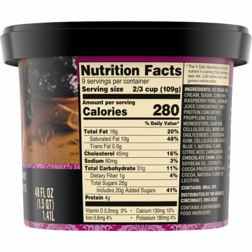 Private Selection® Black Raspberry Dark Chocolate Chunk Ice Cream Perspective: right