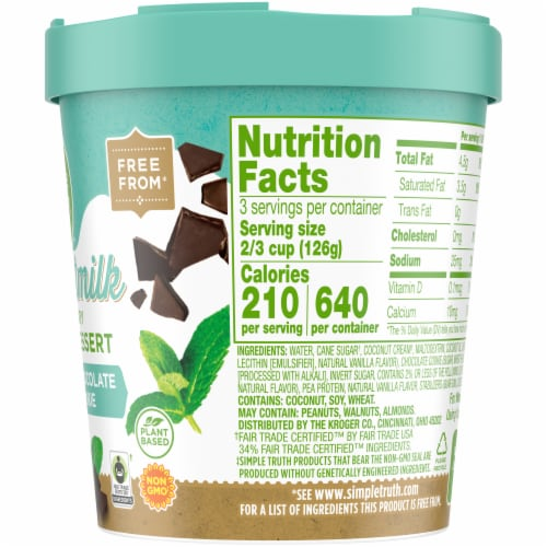 Simple Truth™ Coconut Milk Mint Chip & Chocolate Creme Cookie Non-Dairy Frozen Dessert Perspective: right