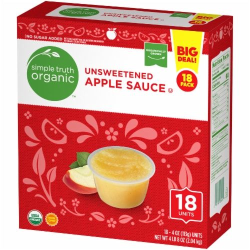 Simple Truth Organic™ Unsweetened Applesauce Perspective: right