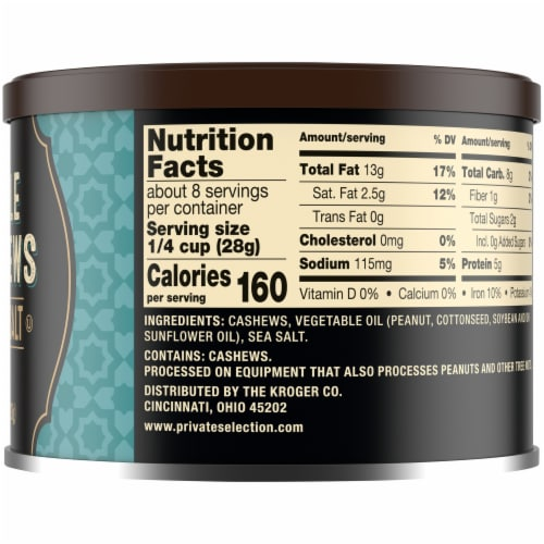Private Selection® Large Whole Cashews with Sea Salt Perspective: right