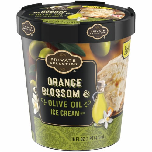 Private Selection Orange Blosson Olive Oil Ice Cream Perspective: right