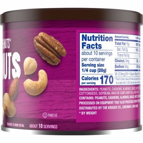 Kroger® Unsalted Mixed Nuts Perspective: right