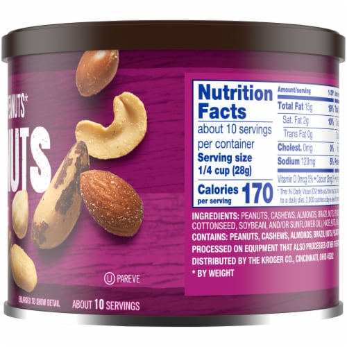Kroger® Salted with Sea Salt Mixed Nuts Perspective: right