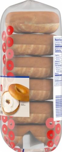 Kroger® Plain Bagels Perspective: right