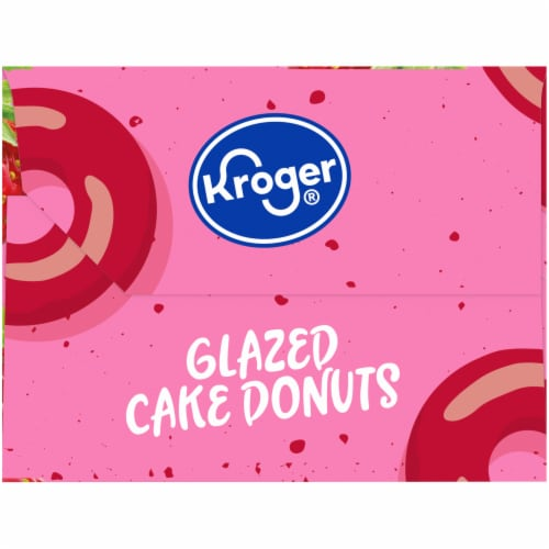 Kroger® Strawberry Glazed Cake Donuts Perspective: right