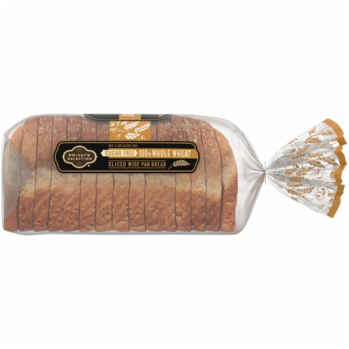 Private Selection® Sugar Free Whole Wheat Sliced Wide Pan Bread Perspective: right
