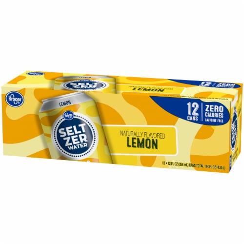 Kroger® Lemon Seltzer Water Perspective: right