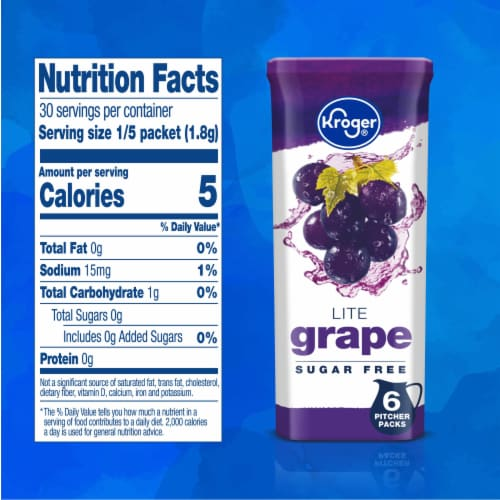 Kroger® Lite Grape Instant Drink Mix Perspective: right
