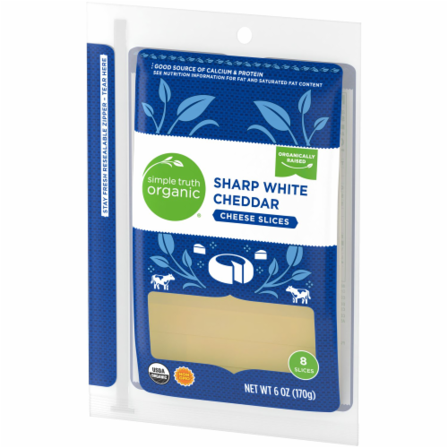 Simple Truth Organic® Sharp White Cheddar Cheese Slices Perspective: right