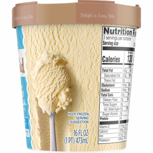 Kroger® Deluxe Churned Vividly Vanilla Ice Cream Perspective: right