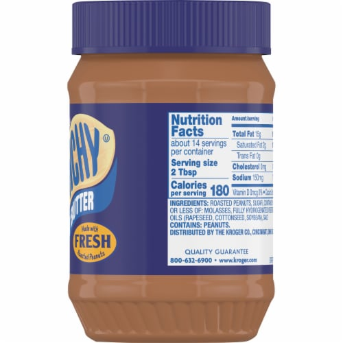 Kroger Crunchy Peanut Butter Perspective: right