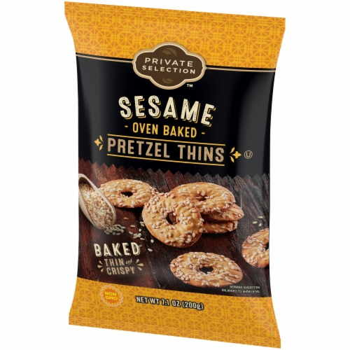 Private Selection™ Sesame Oven Baked Pretzel Thins Perspective: right