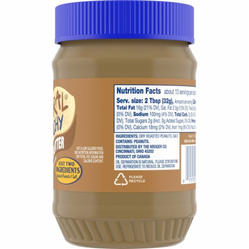 Kroger® Natural Gluten Free Crunchy Peanut Butter Perspective: right