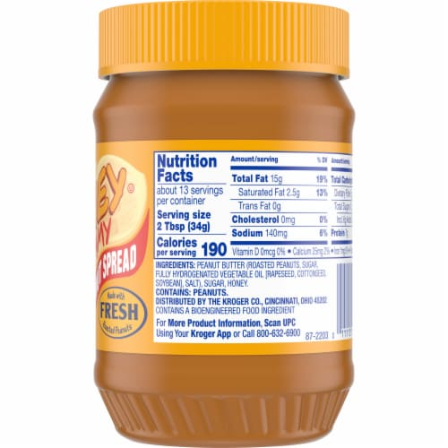 Kroger® Honey Creamy Roasted Peanut Spread Perspective: right