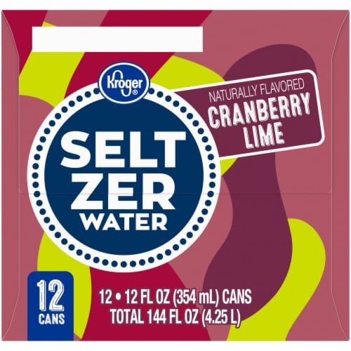 Kroger® Cranberry Lime Seltzer Water Perspective: right