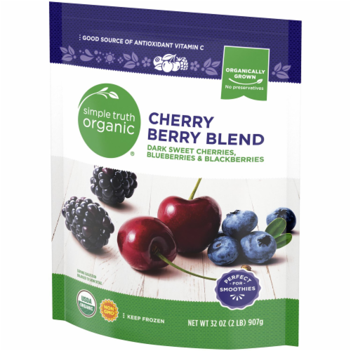 Simple Truth Organic® Cherry Berry Blend Frozen Fruit Perspective: right