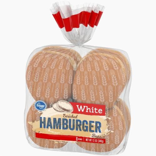 Kroger® White Enriched Hamburger Buns Perspective: right