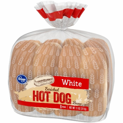 Kroger® White Hot Dog Buns Perspective: right