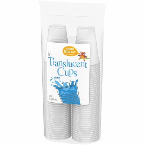 Check This Out™ 9-Ounce Translucent Cups Perspective: right