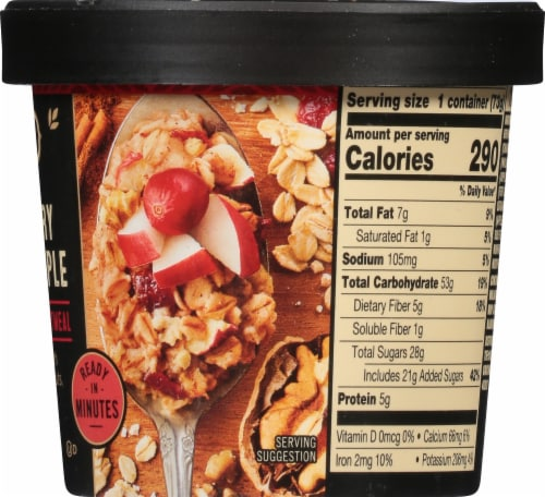 Private Selection™ Cranberry Apple Walnut Steel-Cut Rolled Oatmeal Perspective: right