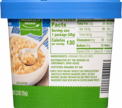 Simple Truth Organic® Original Instant Oatmeal Cup Perspective: right