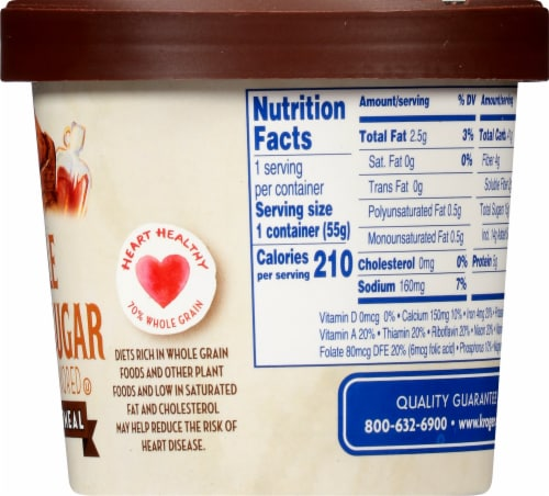 Kroger® Maple Brown Sugar Instant Oatmeal Perspective: right