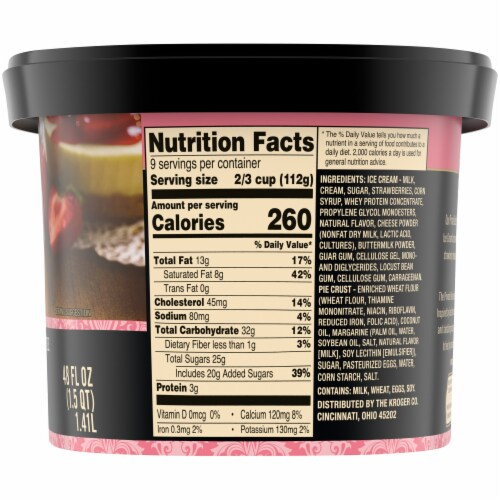 Private Selection® New York Style Strawberry Cheesecake Ice Cream Perspective: right
