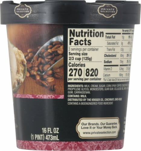 Private Selection® Coffee Ice Cream Perspective: right