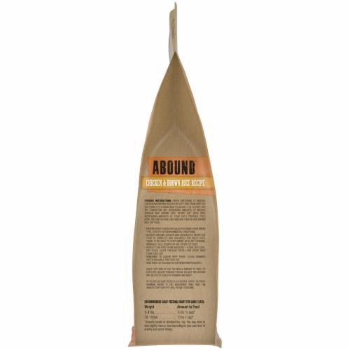 Abound™ Chicken & Brown Rice Recipe Adult Cat Food Perspective: right