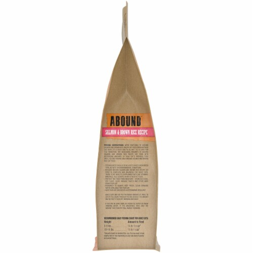 Abound™ Salmon & Brown Rice Recipe Adult Cat Food Perspective: right