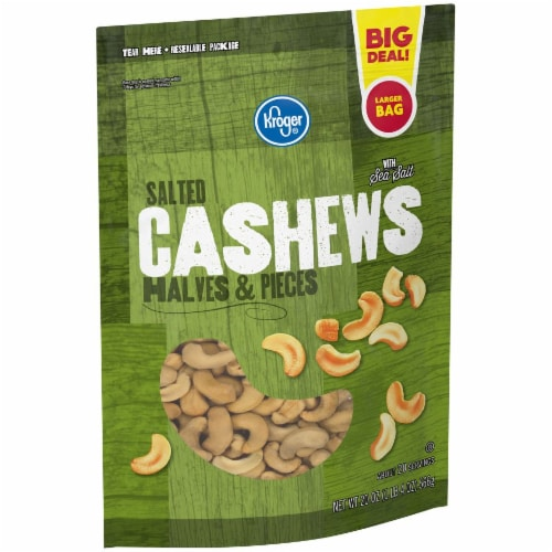 Kroger® Salted Cashews Halves & Pieces Perspective: right