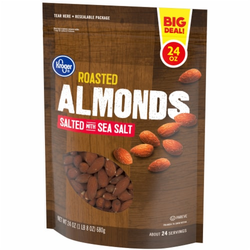 Kroger® Salted & Roasted Almonds Perspective: right