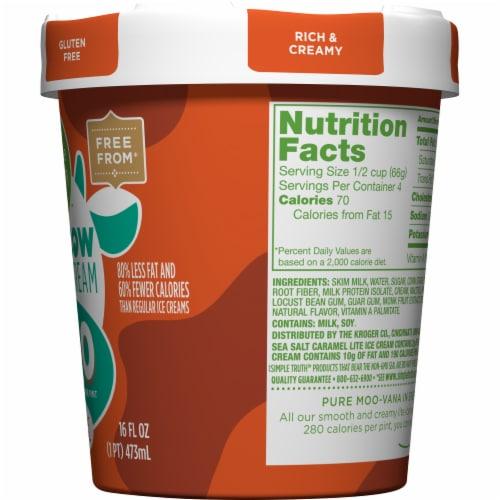 Simple Truth™ Low Cow Lite Sea Salt Caramel Ice Cream Carton Perspective: right